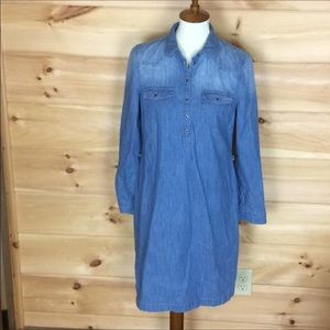 Old Navy long sleeve denim shirt dress Medium